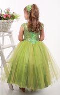 Платье бальное светло-салатовое фатин паетки;Артикул Ф35