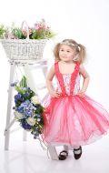 Платье бальное красно-белое;Артикур М52