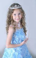 Платье Бальное голубое;  Артикул СМ73