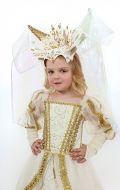 Костюм Белая колдунья с золотом