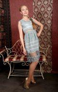Платье коктейльное мятный ажур; Артикул БК18