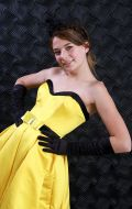 Платье коктейльное желтое; Артикул СТ13