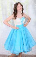 Платье коктейльное голубые волны; Артикул БК13