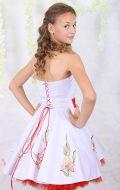 Платье коктейльное с ирисами; Артикул БК25