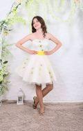 Платье коктейльное с фиолетовыми цветами: Артикул БК23