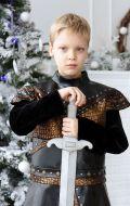 Костюм Рыцарь черный с бронзой NEW