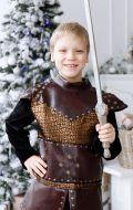 Костюм Рыцарь коричневый с бронзой NEW
