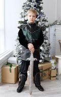 Костюм Рыцарь черный с серебром NEW