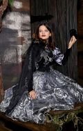 Костюм Королева Хэллоуина черно-серебрянная