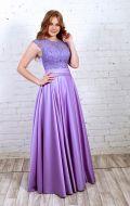 Платье вечернее сиреневое с гипюром: Артикул БД54
