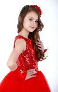 Платье бальное красный фатин; Артикул Ф11