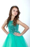 Платье бальное бирюзовый фатин; Артикул Ф1