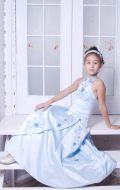 Платье бальное из голубого атласа; Артикул Б15