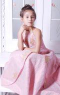 Платье бальное розовая жатка; Артикул Б14