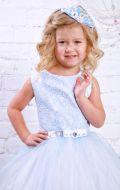 Платье бальное нежно-голубое; Артикул СМ61