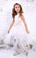 Платье молочно- бежевое со шлейфом; Артикул СМ122