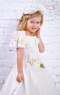 Платье бальное молочное с розами; Артикул М3