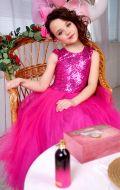 Платье бальное малиновое в паетках; Артикул 25