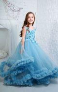 Платье бальное голубое облако; Артикул СМ189