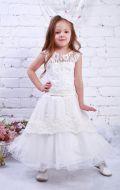 Платье бальное белое с вышивкой и бисером; Артикул М99