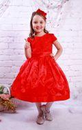 Платье бальное из гипюра и органзы; Артикул СМ142