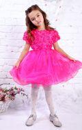 Платье бальное малиновое с розами; Артикул М106
