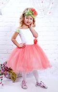 Платье бальное с персиковым фатином; АртикулМ31