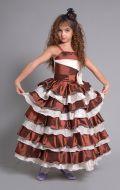 Платье Бальное шоколадное