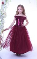 Платье бальное бордовое; Артикул Б18