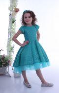 Платье бирюзовое; Артикул Па9