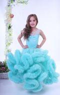Платье бальное мятное; Артикул ОМ22