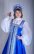 Костюм Русский синий; Артикул Рк2