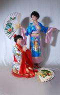 Костюмы Кимоно сине-розовое и Кимоно оливково-красное; Артикулы К2 и К3