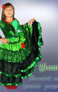 Костюм Цыганка зеленая с черным; Артикул Ц2