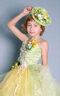 Костюм Весна салатово-желтая со шляпкой; Артикул В32