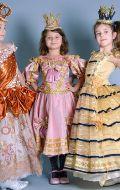 Костюмы Принцесс; Артикул ПД48 и ПД11 (принцессы с оранжевой парчей нет в наличии)