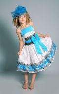 Бальное платье бирюзовый узор; Артикул Ст36