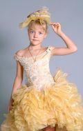 Бальное платье золотое; Артикул СМ69