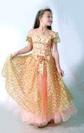 Бальное платье золотое; Артикул Пд23