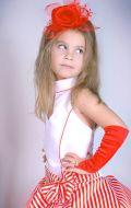 Бальное платье красно-белое; Артикул Ст6