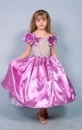 Бальное платье сиреневое;  Артикул В1