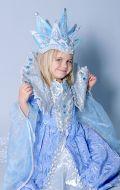 Костюм Снежная Королева голубая узор