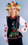 Украинка (зеленый бархат, вышивка); Артикул У2