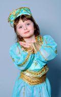Костюм Восточный голубой с золотым (Жасмин); Артикул В13