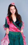 Костюм Цыганка розово-зеленая; Артикул Ц2