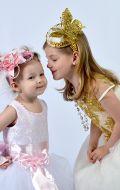 Платья Бальные золотистое и нежно-розовое; Артикул СМ36 +М16