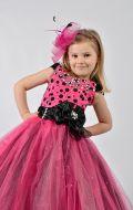 Бальное платье малиновое в черный горох; Артикул Ст41