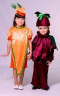 Костюмы Морковь и Буряк; Артикул М1/М2/М3 и Бр1