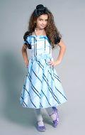 Костюм Стильная девчонка голубой в черную клетку; Артикул Ст14