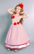 Костюм Стильная девчонка белый в красный горошек;  Артикул Ст24